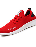 Men's Sneakers Comfort Light Soles Spring Summer Fabric Casual White Black Ruby Flat