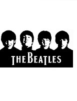 Beatles Character Vinyl Wall Stickers Music Figures Four Person Wall Decals Home Decor For Kids Room Decoration Sticker