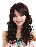 Capless Wig Deep Wave Synthetic Fiber Wig Black Color Costume Wig Hair