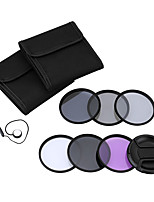 Andoer 62mm uv cpl fld nd (nd2 nd4 nd8) Kit de filtre photographique set ultraviolet circulaire polarisant filtre fluorescent neutre