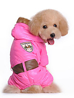 Dog Hoodie Clothes/Jumpsuit Dog Clothes Casual/Daily Solid Blue Blushing Pink