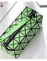 Women Coin Purse PU All Seasons Rectangle Zipper Green Black-white Blue