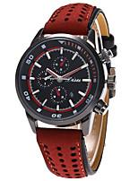Homens Relógio Esportivo Relógio Militar Relógio de Moda Relógio de Pulso Único Criativo relógio Relógio Casual Quartzo Calendário Couro