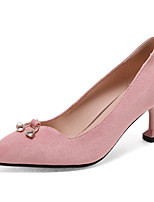 Women's Shoes Heels Comfort Leatherette Spring Fall Casual Party & Evening Dress Comfort Stiletto Heel Khaki Blushing Pink Black 2in-2 3/4in
