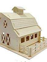 Puzzles Kit de Bricolage Puzzles 3D Blocs de Construction Jouets DIY  Architecture Bois Naturel