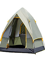 CAMEL 3-4 persons Tent Double Camping Tent Automatic Tent Well-ventilated Dust Proof Foldable for Camping / Hiking CM One Room Carbon