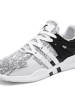 Men's Sneakers Comfort Light Soles Spring Fall Fabric Casual Outdoor Flat Heel Pink/White Black/White Black/Red Flat