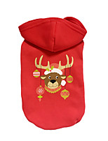 Dog Hoodie Dog Clothes Christmas Reindeer Ruby