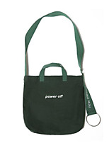 Women Shoulder Bag Canvas All Seasons Casual Outdoor Round Without Zipper Black Green
