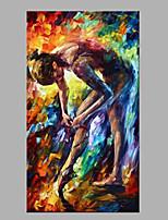 Ручная роспись Люди Модерн 1 панель Холст Hang-роспись маслом For Украшение дома