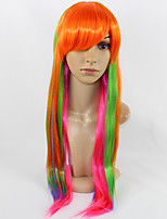 Long Hair Style Women Wig Fashionable Women Hair Multi Color Straight Cosplay Wig.