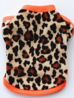 Cat Dog Coat Shirt / T-Shirt Sweatshirt Dog Clothes Party Casual/Daily Keep Warm Leopard Leopard Black