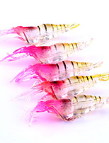 5pcs 1g 48mm Soft Shrimp Bait