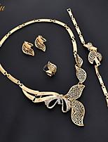 Women's Necklace Earrings Bracelet RhinestoneBasic Pendant Rhinestone Euramerican Fashion Personalized Luxury Adorable Simple Style
