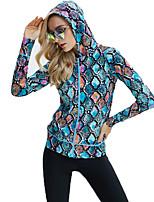 SBART Femme Costumes humides Elasthanne Chinlon Tenue de plongée Manches Longues Hauts/Tops-Plongée Toutes les Saisons Courbe
