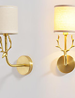 AC110 AC220 40 E12/E14 Simple Vintage Traditional/Classic Brass Feature for Mini Style,Ambient Light Wall Sconces Wall Light