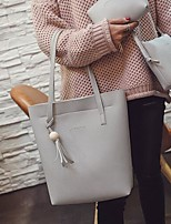 Women Shoulder Bag PU All Seasons Casual Outdoor Round Without Zipper Brown Gray Black