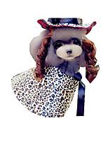 Hund Kostüme Hundekleidung Cosplay Zebra Schwarz/Weiß Leopard