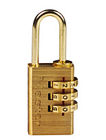 MASTER LOCK 620MCND Password Padlock Brass 3 Digit Password Lock Adjustable Password Padlock Home Dormitory Door Bag Dail Lock Password Lock