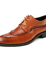Для мужчин обувь Искусственное волокно Весна Осень Формальная обувь Обувь для дайвинга Туфли на шнуровке Шнуровка Назначение Свадьба