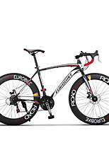 Bicicleta Confortável Ciclismo 21 velocidade 26 polegadas/700CC Shimano Freio a Disco Duplo Comum Quadro de Aço Comum Aço de Carbono