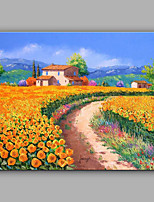Large Size Hand-Painted Landscape Mediterranean One Panel Canvas Oil Painting For Home Decoration No Framed