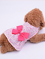Dog Dress Dog Clothes Casual/Daily Bowknot Blushing Pink Blue Purple