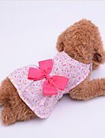 Hund Kleider Hundekleidung Lässig/Alltäglich Schleife Purpur Blau Rosa