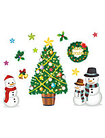 Wall Stickers Wall Decals Christmas Tree Snowman PVC Wall Stickers
