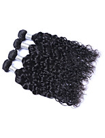 Medium Size 4Bundles/Lot 400g Brazilian Virgin Remy Human Hair Wefts 100% Unprocessed Natural Black Natural Wave Human Hair Weaves/Extensions