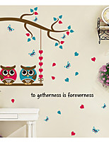 Animales Romance Formas Pegatinas de pared Calcomanías de Aviones para Pared Calcomanías Decorativas de Pared Material Decoración hogareña