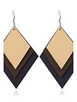 Women's Dangle Earrings Jewelry Geometric Euramerican Simple Style Wood Geometric Jewelry For Gift Casual Outdoor clothing