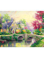 Jigsaw Puzzles Jigsaw Puzzle Building Blocks DIY Toys Round House Wooden