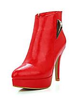 Mujer Tacones Confort PU Primavera Casual Confort Blanco Negro Rojo Plano