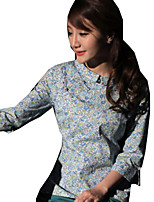 Blouse/Shirt Classic/Traditional Lolita Lolita Cosplay Lolita Dress Coffee Green Red Blue Print Short Sleeve Lolita Blouse ForCotton