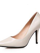 Damen High Heels Fersenriemen Leder Frühling Normal Fersenriemen Schwarz Rosa Mandelfarben 7,5 - 9,5 cm
