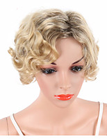 Short Ombre Bouncy Curly Wigs For Black Women Naturally Synthetic Black To Blonde Color Hair Heat Resistant