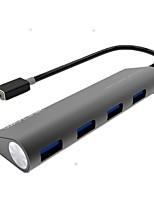 Modélisez un indicateur type-c to usb3.0 hub 4 ports 5gbps avec un câble de 0,2 m