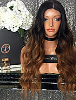 Ombre Color Lace Front Human Hair Wigs Body Wave with Baby Hair 150% Density Brazilian Virgin Hair Glueless Lace Wig for Woman