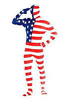 Zentai Suits Cosplay Costumes USA Original Flag Stars And Stripe Zentai Lycra Unisex