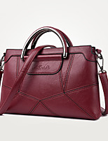 Women Tote PU All Seasons Wedding Event/Party Casual Formal Office & Career Rectangle Zipper Light Gold Purple Gray Red Black
