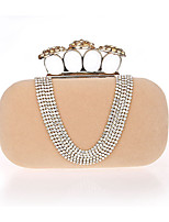 Women Evening Bag PU Polyester All Seasons Wedding Event/Party Formal Minaudiere Rhinestone Clasp Lock Aquamarine Apricot Red Black