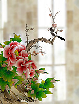 Window Film Window Decals Style Flowers in Full Bloom Dull Polish PVC Window Film - (60 x 58)cm