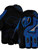 Motorcycle Cross Country Palm Microfiber Reinforced Friction Lycra And Mesh Fabric Semi Finger Gloves