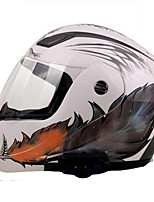 YOHE YH-936  Motorcycle Helmet  Bluetooth Helmet Comes With FM 800 Meters Intercom White Feathers By White Ord