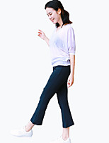 Yoga Pants Crop Breathable Lightweight Materials Comfortable Natural Stretchy Sports Wear Women'sYoga Pilates Exercise & Fitness Leisure