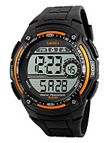 Men's Sport Watch Digital Watch Digital Water Resistant / Water Proof Stopwatch PU Band Black