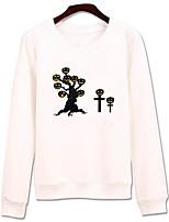 Sweatshirt Homme Décontracté / Quotidien simple Imprimé Col Arrondi non élastique Coton Manches longues Automne