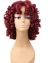 Popular Red Color Wigs For Black Women Curly Synthetic European Women Wigs