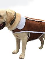 Cachorro Macacão Roupas para Cães Casual Sólido